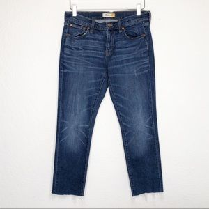 Madewell | Slim Boyjean Raw Hem Jeans Size 26